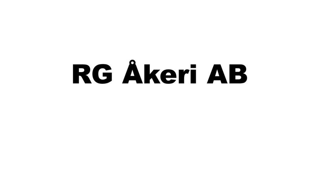 RG Åkeri AB Logga